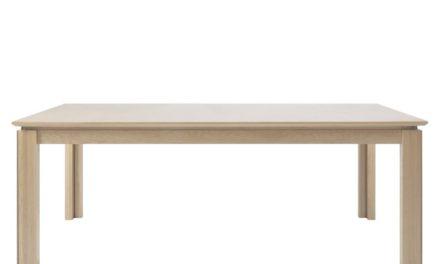 Ventura spisebord – hvidpigmenteret eg, incl. 4 tillægsplader