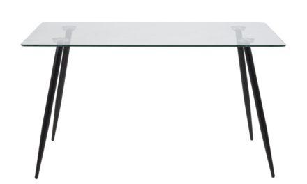 Lækkert Wilma spisebord med glasplade i metal og glas fra det kendte mærke Actona
