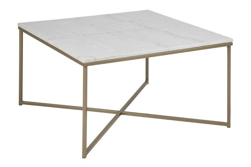 Alisma marmor sofabord, Hvid