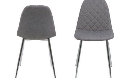Wilma spisebordsstol – lysegrå med mønster