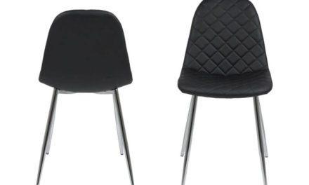 Wilma spisebordsstol – Sort/mønster