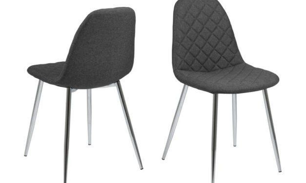 Wilma spisebordsstol – Mørkegrå med mønster