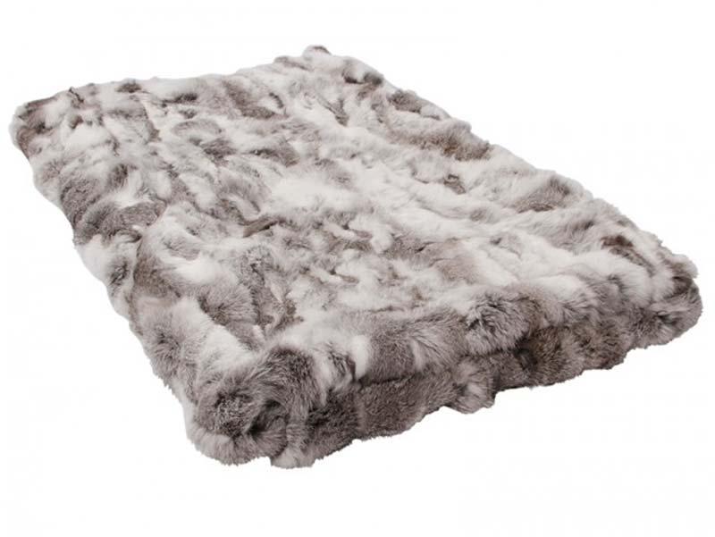 Kaninskinds tæppe, lysegrå