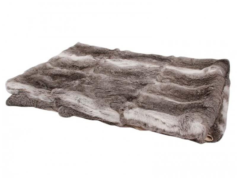 Kaninskinds tæppe, mørkegrå