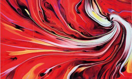KARE DESIGN Chaos Fire Plakat, Glas 150x120cm