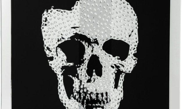 KARE DESIGN Plakat m. Ramme, Mirror Skull 100x100cm