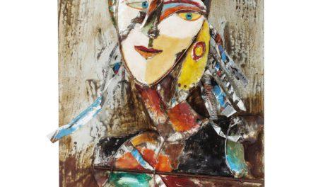 KARE DESIGN Plakat, Iron Artist Face Lady, 120x80cm