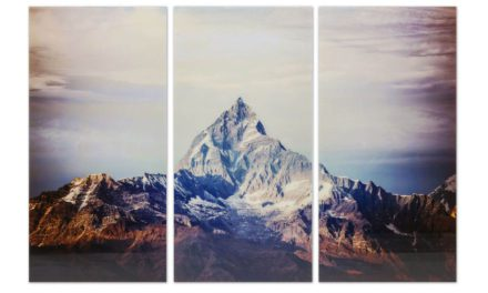 KARE DESIGN Triptychon Himalaya Plakat, Glas