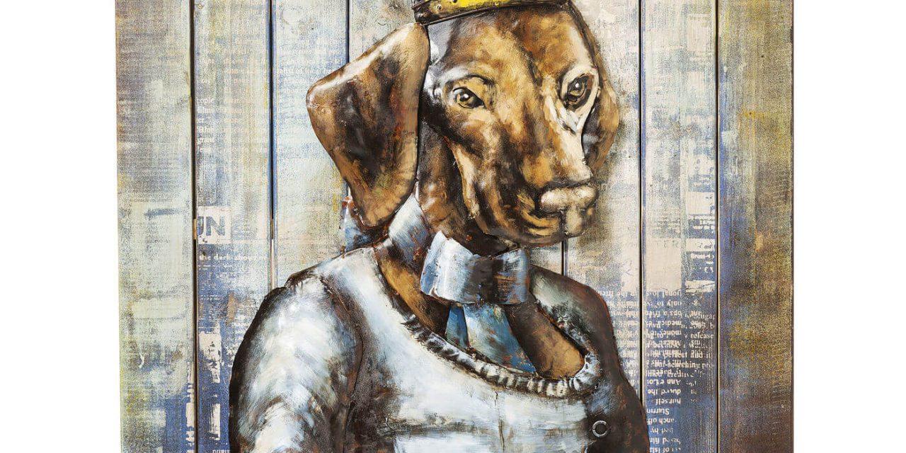 KARE DESIGN Plakat, Iron Queen Dog, 100x75cm