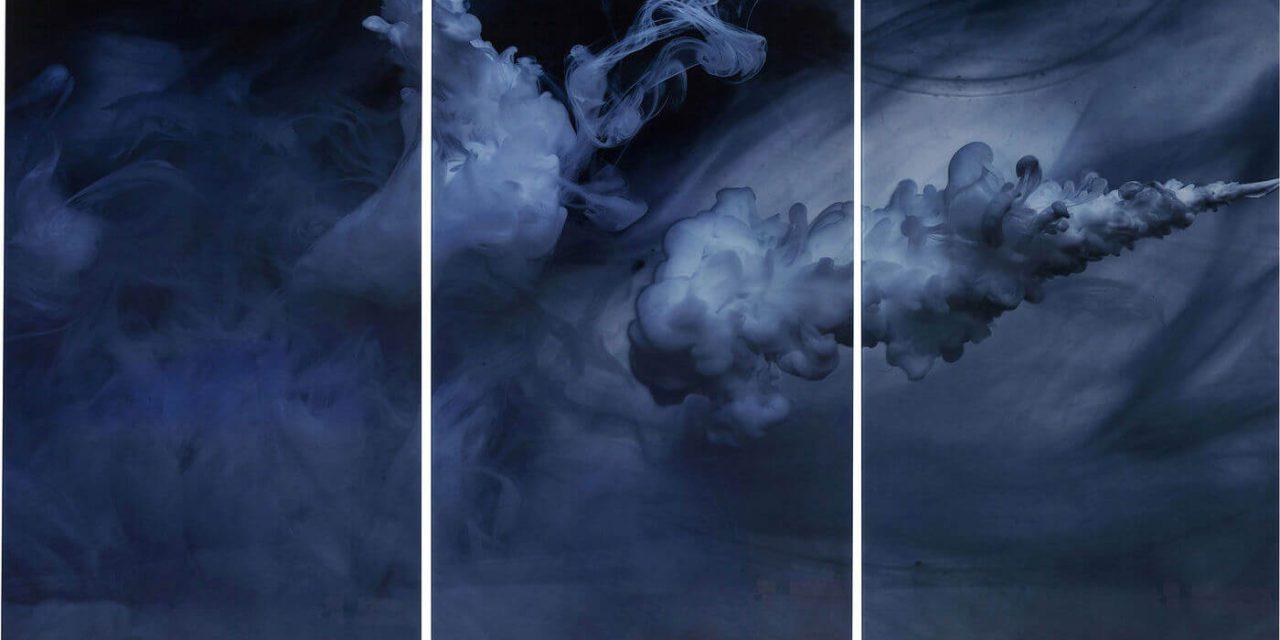 KARE DESIGN Triptychon Clouds Plakat, Glas 160x24cm