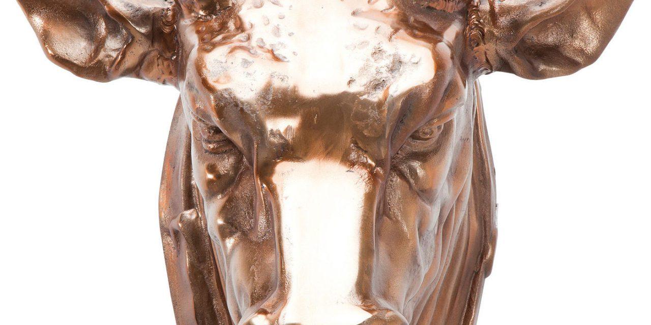 KARE DESIGN Vægskulptur, Head Buffalo Copper