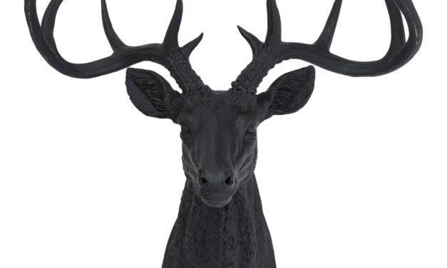 KARE DESIGN Vægskulptur, Antler Deer Rubber Black
