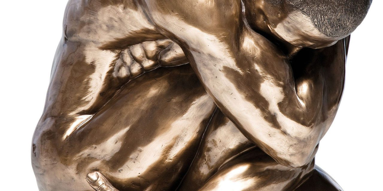 KARE DESIGN Skulptur, Nude Man Hug Bronze