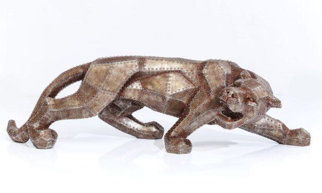 KARE DESIGN Skulptur, Cat Rivet Copper