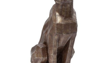 KARE DESIGN Skulptur, Sitting Cat Rivet Copper