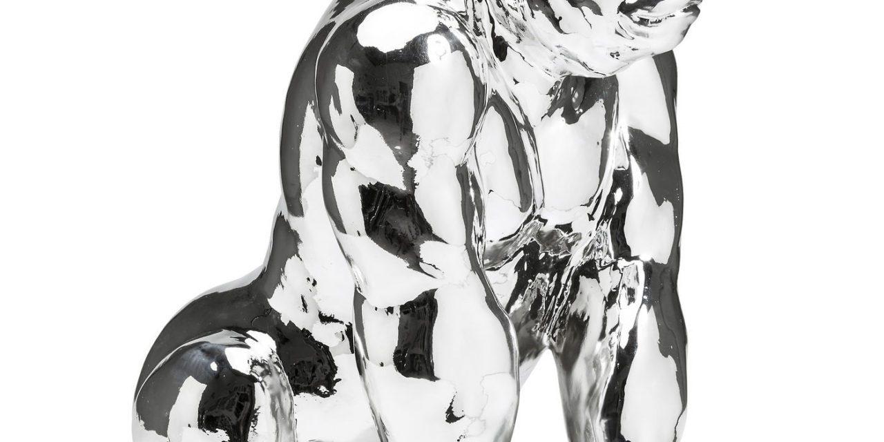 KARE DESIGN Skulptur, Gorilla Chrome