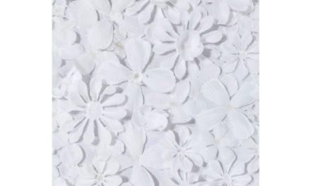 KARE DESIGN Vægdeko, m. Ramme White Flower 120x120cm