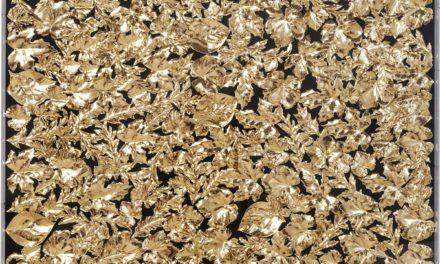 KARE DESIGN vægdekoration, m. Ramme Gold Leaf 120x120cm