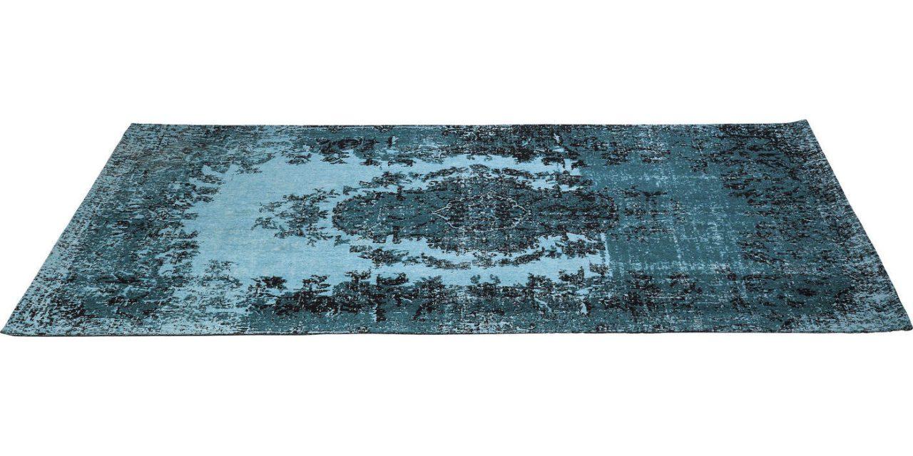 KARE DESIGN Tæppe, Kelim Pop Turquoise 240x170cm