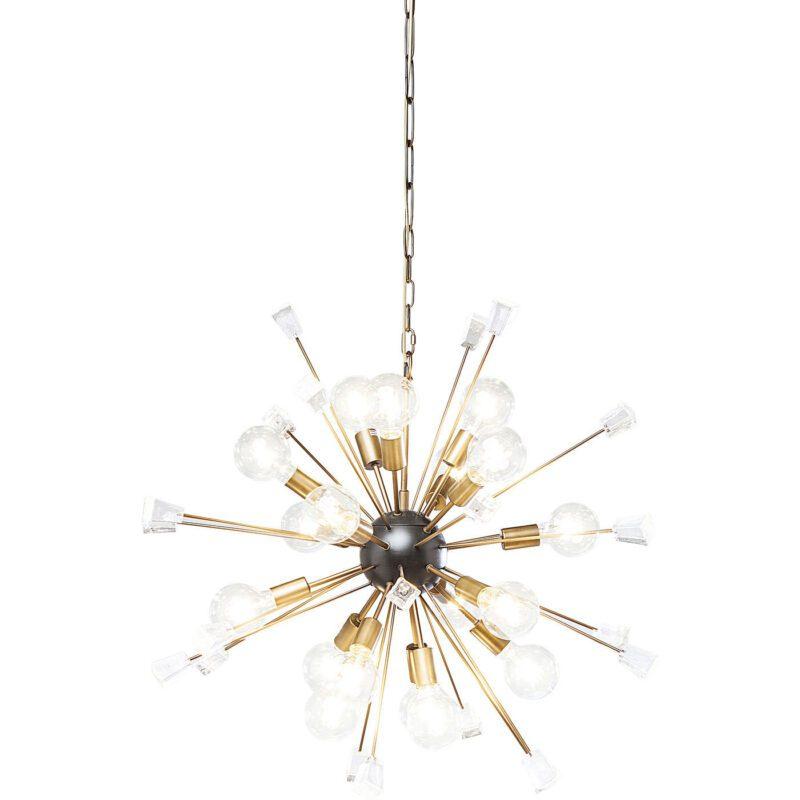KARE DESIGN Loftslampe, Crystal Bomb Brass Netkvik