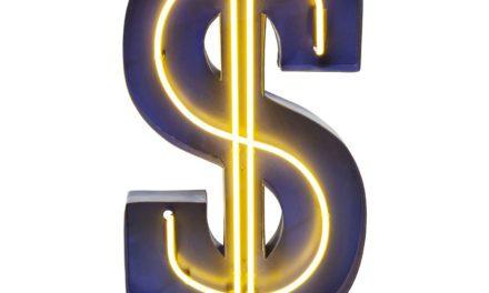 KARE DESIGN Dollar lysskilt