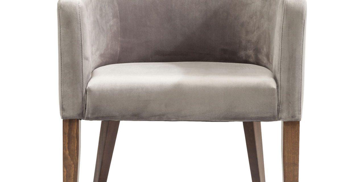 KARE DESIGN Spisebordsstol m. armlæn, Mode Velvet Grey