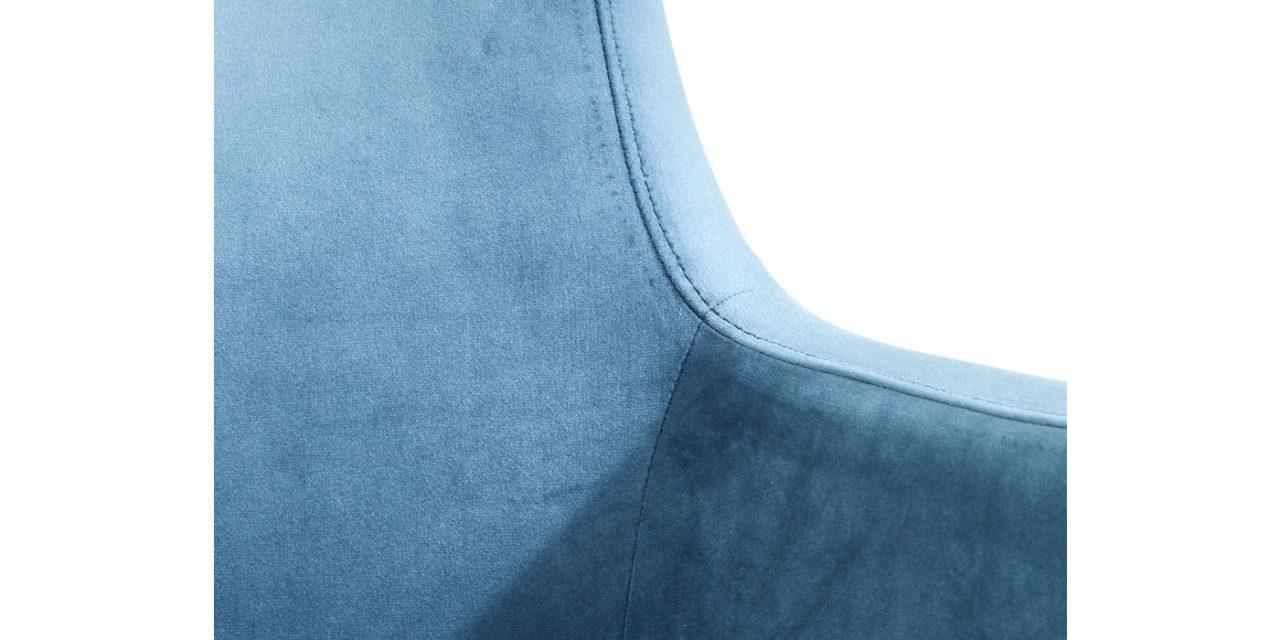 KARE DESIGN Spisebordsstol m. armlæn, Mode Velvet Petrol