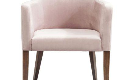 KARE DESIGN Spisebordsstol m. armlæn, Mode Velvet Rose