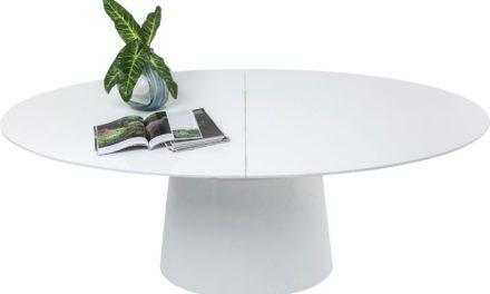 KARE DESIGN Extension Benvenuto spisebord – hvid m. butterflyplade