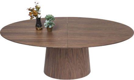 KARE DESIGN Extension Benvenuto spisebord – valnøddefinér m. butterflyplade