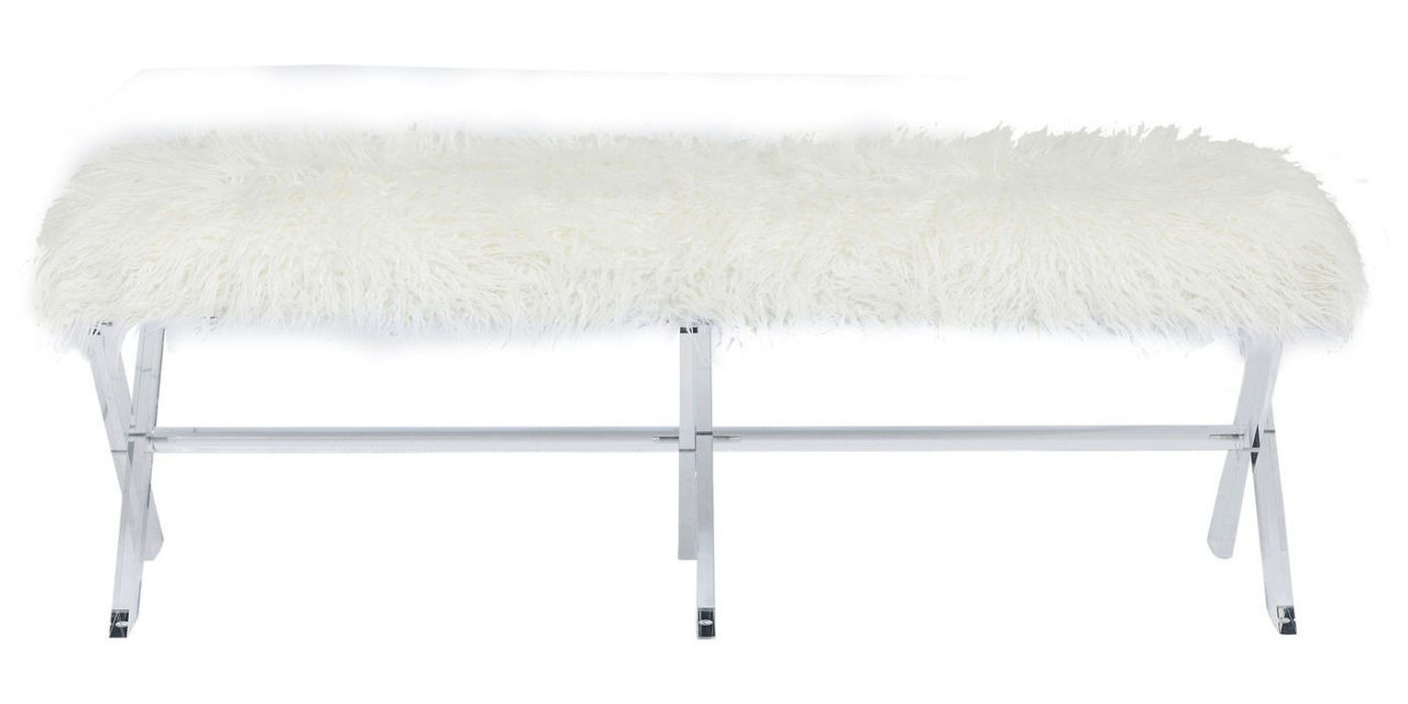 KARE DESIGN Bænk, Visible Fur White