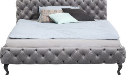 KARE DESIGN sengeramme, Desire Silver Grey 180×200 cm, Fløjl