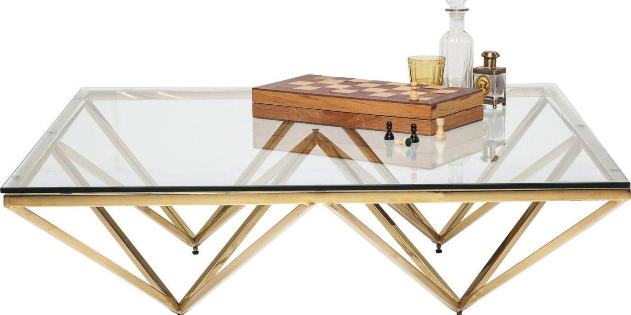 KARE DESIGN Sofabord, Network Gold 105x105cm
