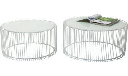 KARE DESIGN Wire Sofabordssæt – hvid