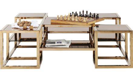 KARE DESIGN Sofabord, Steps Gold 120x120cm
