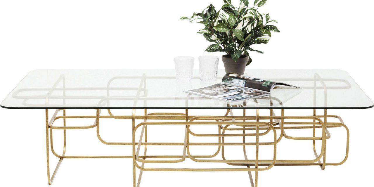 KARE DESIGN Sofabord, Meander Gold 140x80cm