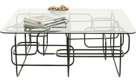 KARE DESIGN Sofabord, Meander Black 100x100cm