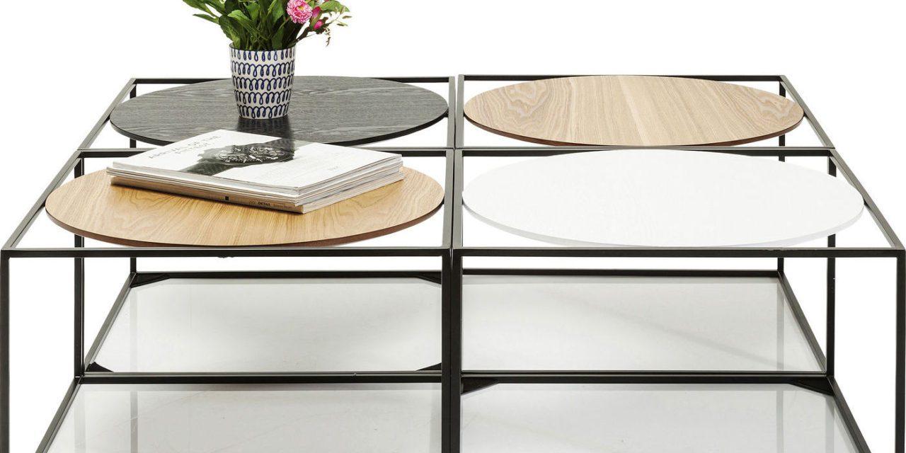 KARE DESIGN Sofabord, Quattro Circles 100x100cm