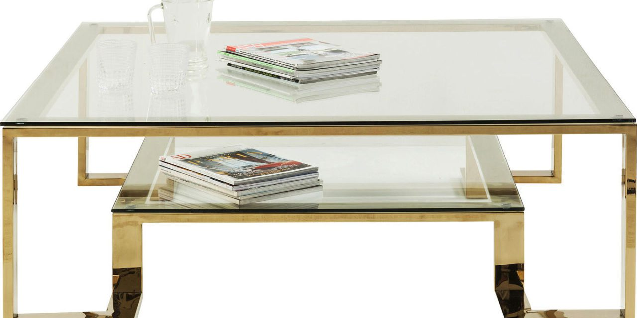 KARE DESIGN Sofabord, Gold Rush 120x120cm