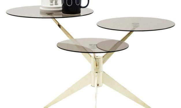 Kare Design Sofabord Bonsai Tre Brass i flot Glas og stål