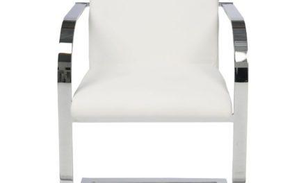 KARE DESIGN Cantilever Spisebordsstol med armlæn, Candodo White