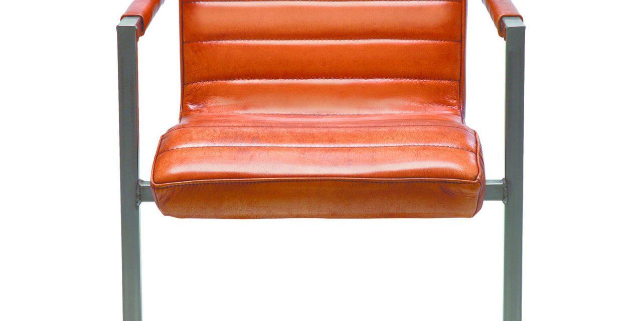 KARE DESIGN Cantilever Spisebordsstol med Armlæn, Riffle Buffalo Brown
