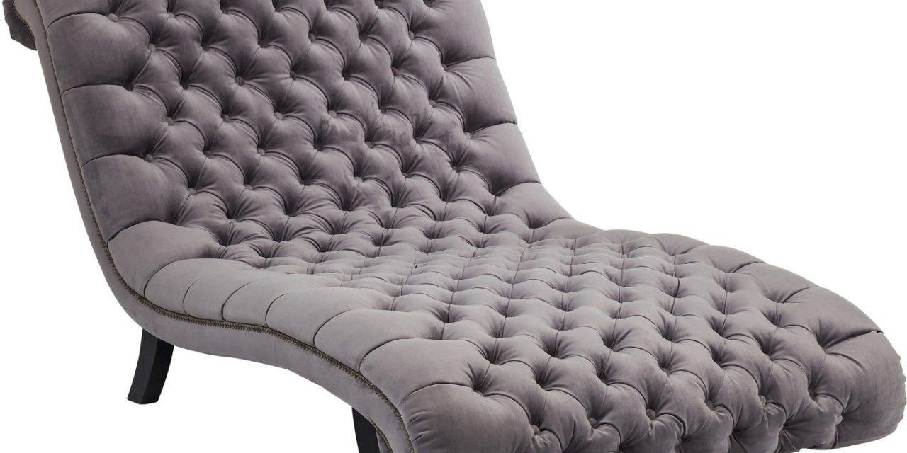 KARE DESIGN loungestol, Desire Velvet Silver 115cm, Fløjl