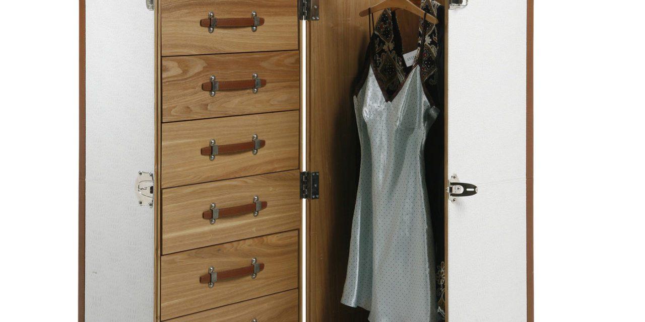KARE DESIGN Garderobeskab, Trunk Croco White