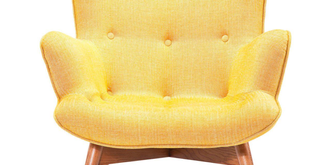 KARE DESIGN Hvilestol m. Armlæn, Angels s Rhythm Mustard
