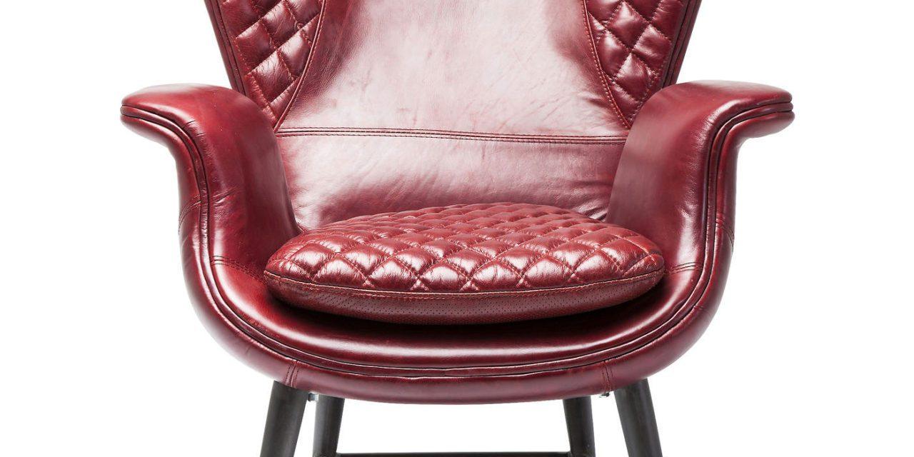 KARE DESIGN Hvilestol m. Armlæn, Tudor Red Leather