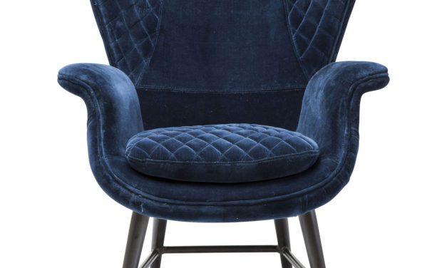 KARE DESIGN Hvilestol m. Armlæn, Tudor Blue Velvet
