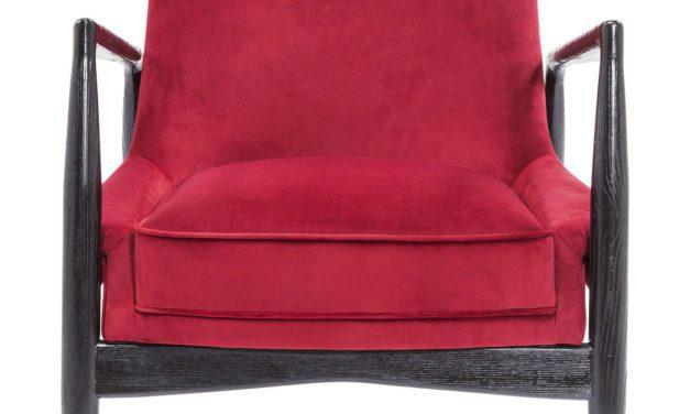 Fabelagtig Blade hvilestol i rød stof fra Kare Design