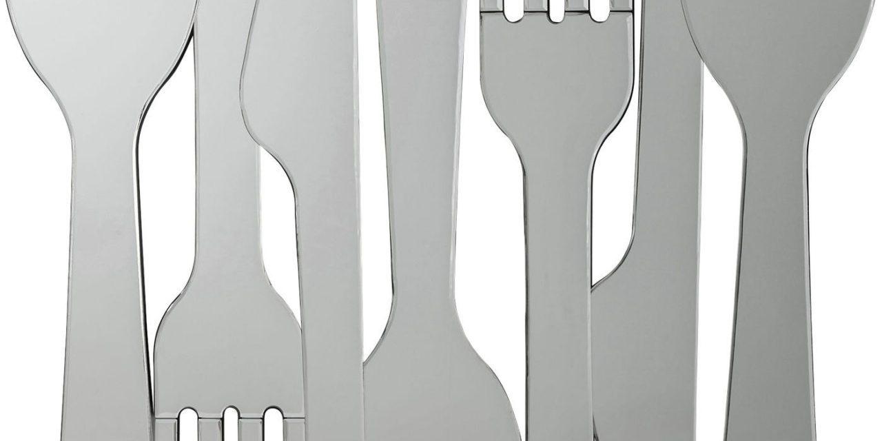 KARE DESIGN Spejl, Cutlery 100x101cm