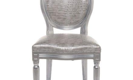 KARE DESIGN Spisebordsstol, Louis Silver Croco Antique
